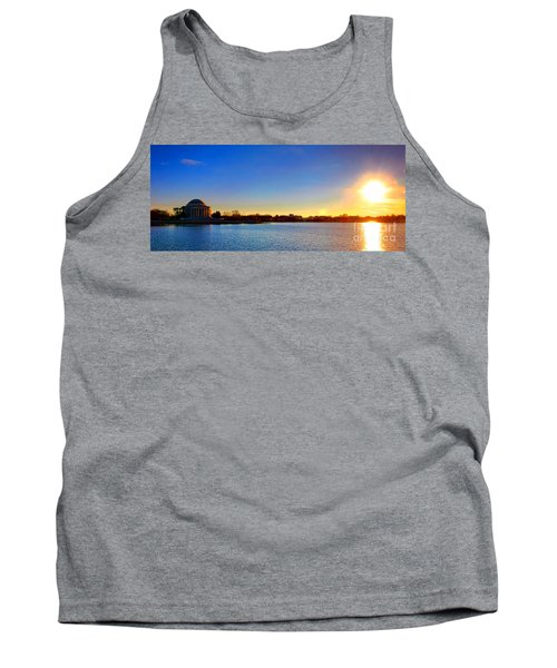 Sunset Over The Jefferson Memorial  Tank Top