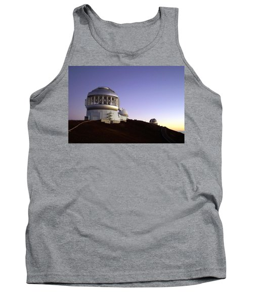 Sunset Over The Mauna Kea Observatories On Kona Tank Top
