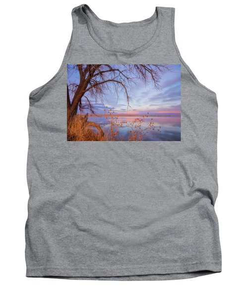 Tank Top featuring the photograph Sunset Overhang by Darren White