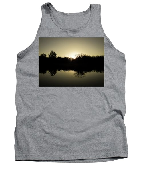 Sunset Reflecting On Water Tank Top