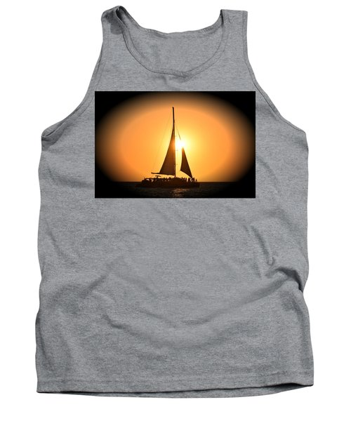 Sunset Sail Tank Top by Gary Smith
