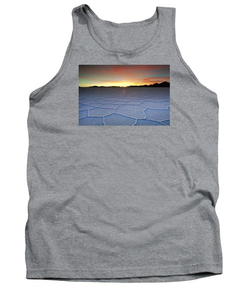 Lake Uyuni Sunset Texture Tank Top