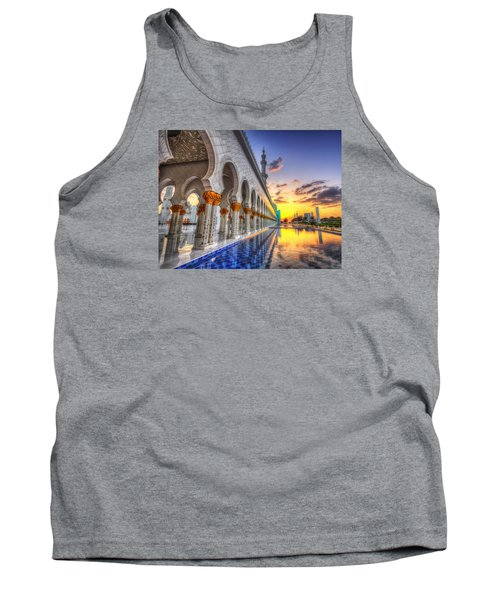 Sunset Water Path Temple Tank Top by John Swartz