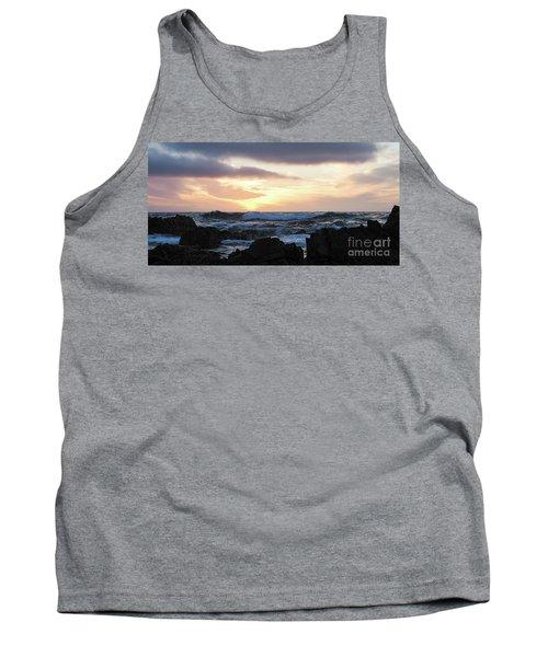 Sunset Waves, Asilomar Beach, Pacific Grove, California #30431 Tank Top