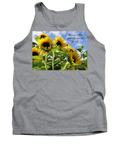 Tank Top featuring the photograph Sunshine Lollipops Grace by Diane E Berry