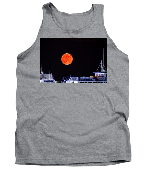 Super Moon Over Crazy Sister Marina Tank Top by Bill Barber