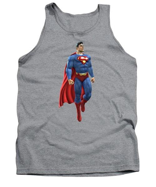 Superman Splash Super Hero Series Tank Top by Movie Poster Prints