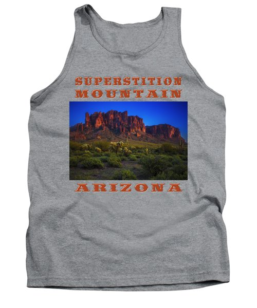 Superstition Mountain Sunset Tank Top