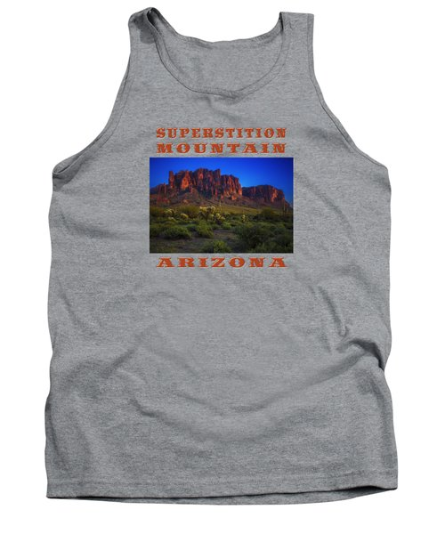 Superstition Mountain Sunset Tank Top