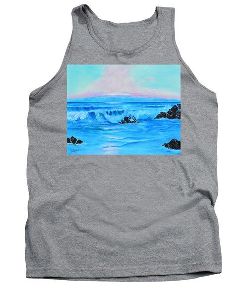 Surf At Sunset  Tank Top