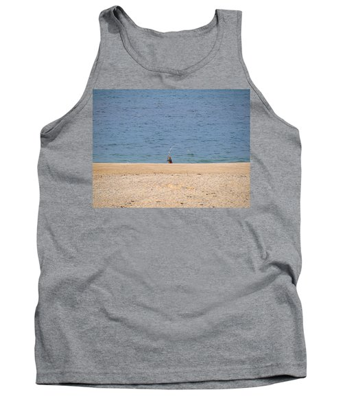 Tank Top featuring the photograph Surf Caster by  Newwwman