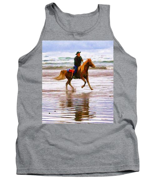 Tank Top featuring the photograph Surf Rider by Wendy McKennon