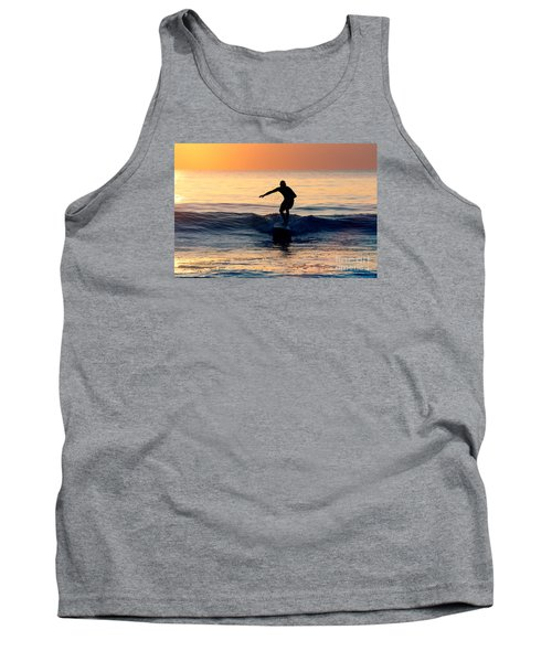 Surfer At Dusk Tank Top