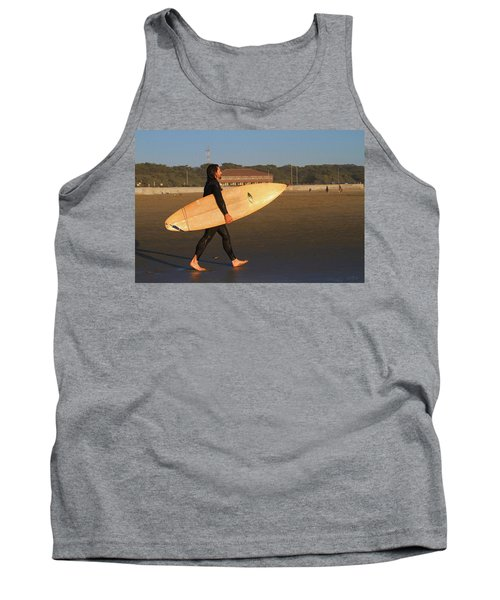 Surfer At Ocean Beach Tank Top