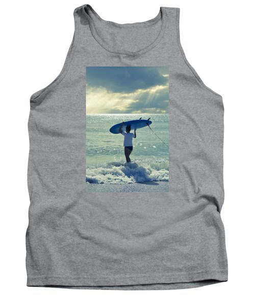 Surfer Girl Tank Top by Laura Fasulo