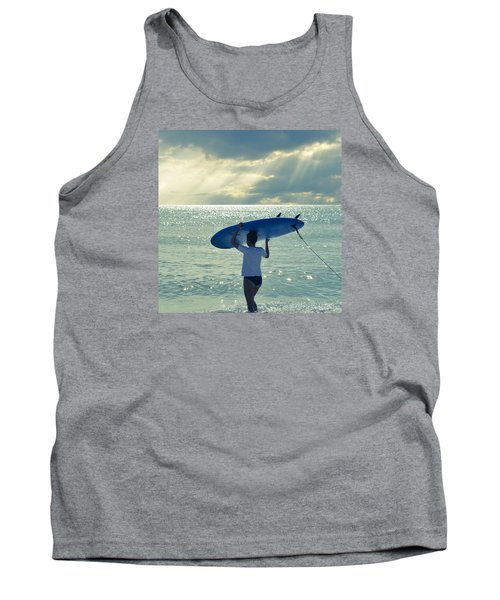 Surfer Girl Square Tank Top by Laura Fasulo