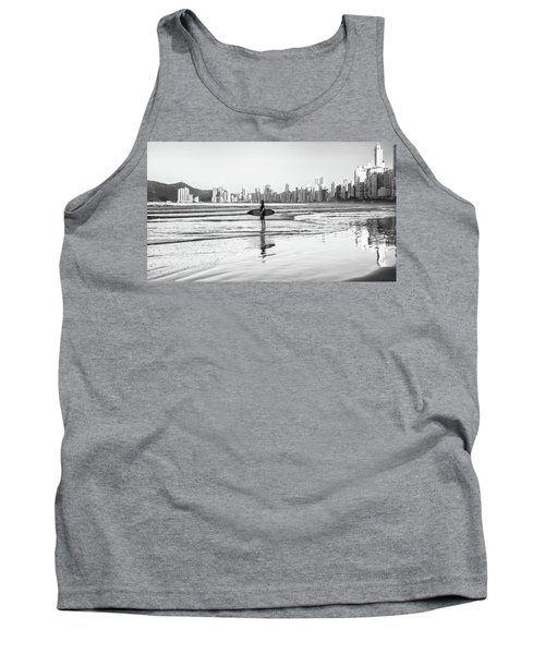 Surfer On The Beach Tank Top