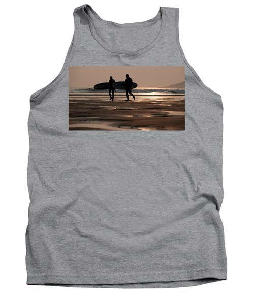 Surfers At Sunset Tank Top