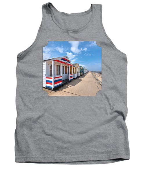 Surf's Up - Colorful Beach Huts - Square Tank Top
