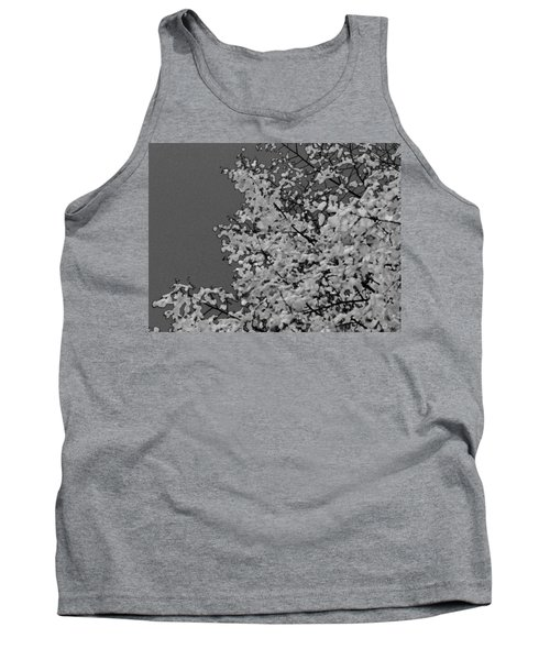 Surreal Deconstruction Of Fall Foliage In Noir Tank Top