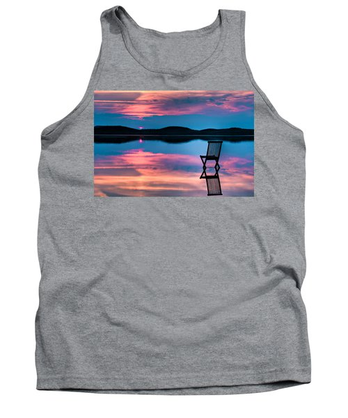Tank Top featuring the photograph Surreal Sunset by Gert Lavsen