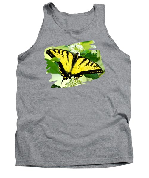 Swallowtail Butterfly Feeding On Flowers Tank Top by Christina Rollo