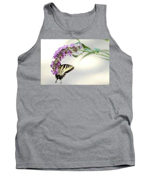 Swallowtail On Purple Flower Tank Top