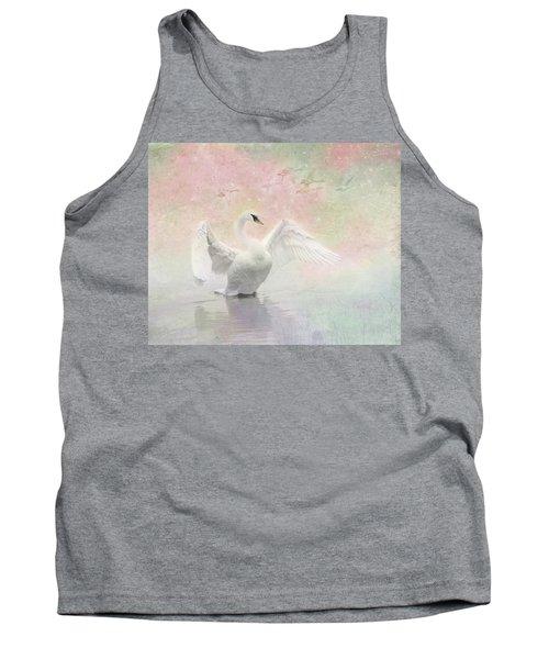 Swan Dream - Display Spring Pastel Colors Tank Top