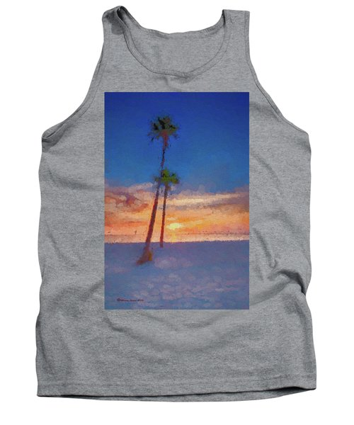 Tank Top featuring the photograph Swaying Palms by Marvin Spates