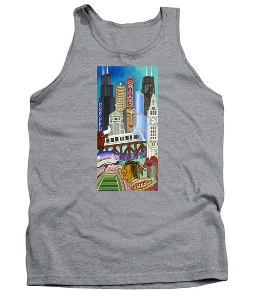 Tank Top featuring the painting Sweet Home Chicago by Carla Bank