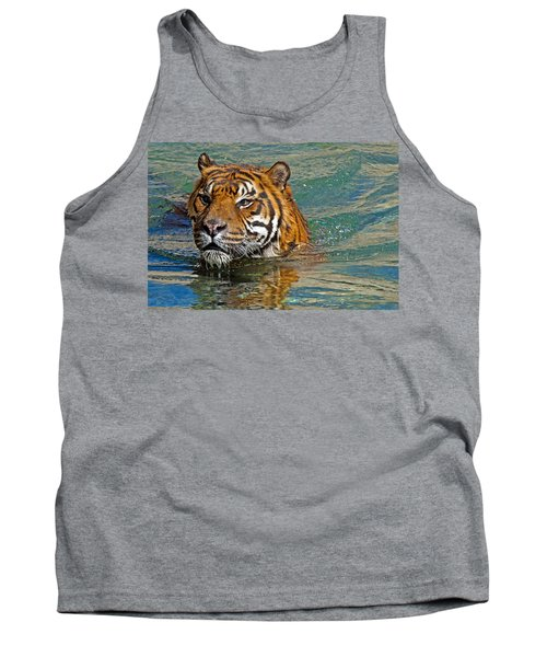 Swimming Tiger Tank Top