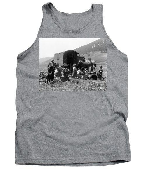 Swiss Nomads And Gypsy Wagon, C.1930s Tank Top