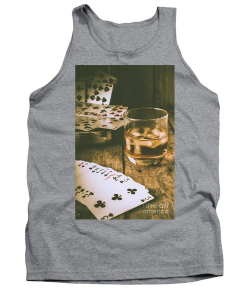 Table Games And The Wild West Saloon  Tank Top