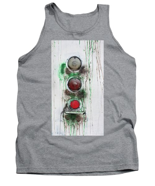 Tank Top featuring the photograph Taillights On A Very Old Bus by Gary Slawsky