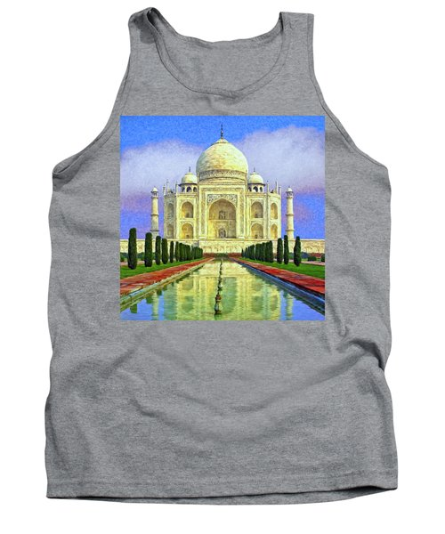 Taj Mahal Morning Tank Top by Dominic Piperata