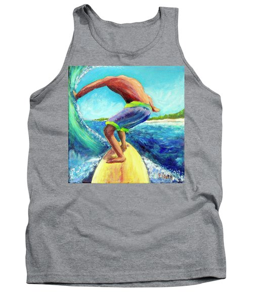 Tank Top featuring the painting Taking Off by Patricia Piffath