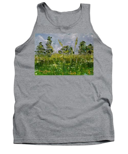 Tank Top featuring the painting Tall Grass by Judith Rhue