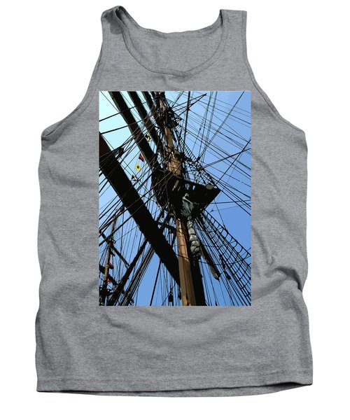 Tall Ship Design By John Foster Dyess Tank Top
