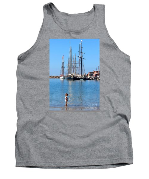 Tank Top featuring the photograph Tall Ship Festival by Cheryl Del Toro