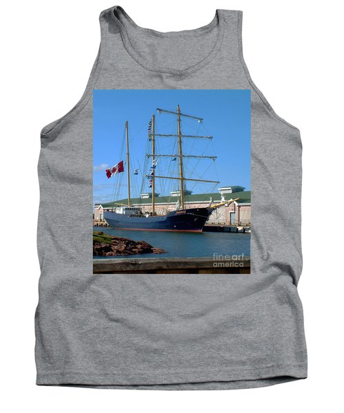 Tank Top featuring the photograph Tall Ship Waiting by RC DeWinter