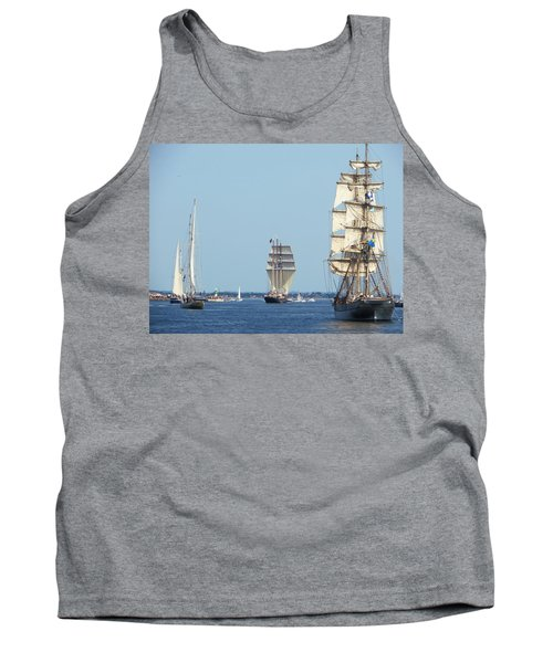 Tank Top featuring the photograph Tallships At Aarhus by Dutch Bieber