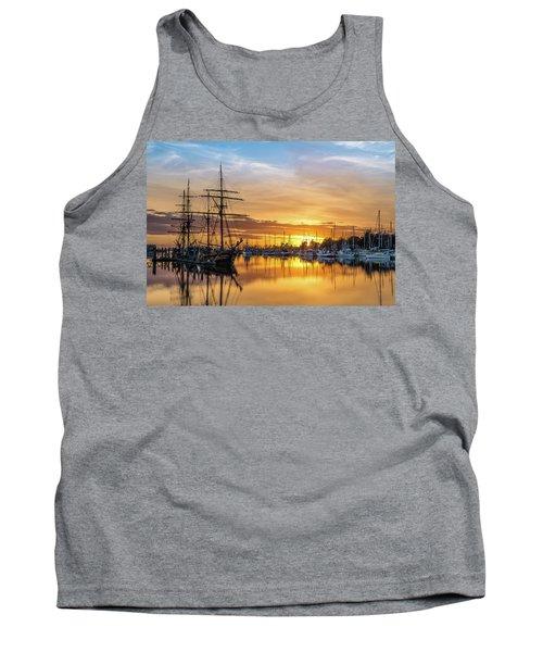 Tall Ships Sunset 1 Tank Top by Greg Nyquist