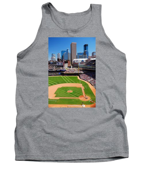 Target Field, Home Of The Twins Tank Top by James Kirkikis
