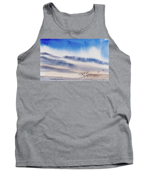 Tank Top featuring the painting Tasmanian Skies Never Cease To Amaze And Delight. by Dorothy Darden
