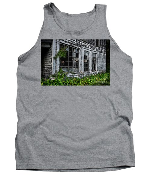 Tattered Color Signed Tank Top