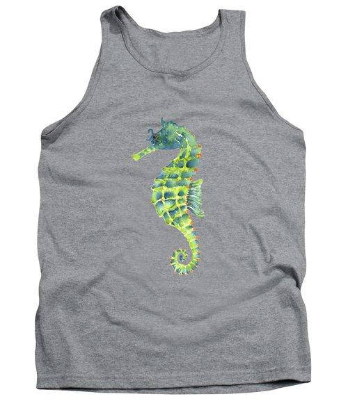 Teal Green Seahorse Tank Top