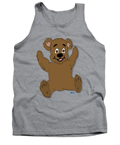Teddy's First Portrait Tank Top by Pharris Art