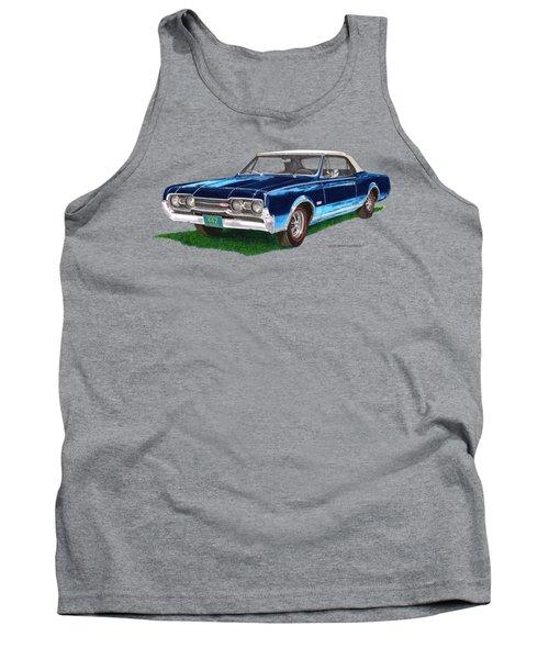 Tee Shirt Art 1967 Oldsmobile 4 4 2 Convertible Tank Top by Jack Pumphrey