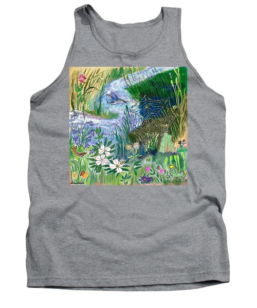 Teen Drawing -- Hummingbird Collecting Silk Tank Top