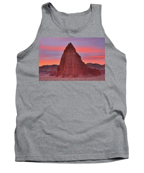 Temple Of The Sun And Moon At Sunrise At Capitol Reef National Park Tank Top